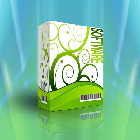 3d Software box for generics products photo