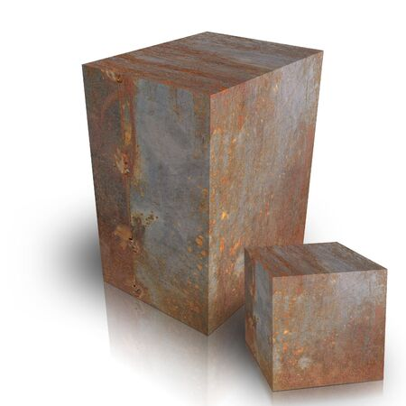 Metal box on a white background Stock Photo - 3628011
