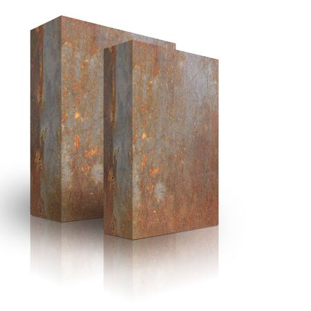 Metal box on a white background Stock Photo - 3628004