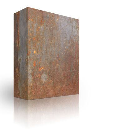 Metal box on a white background Stock Photo - 3627982