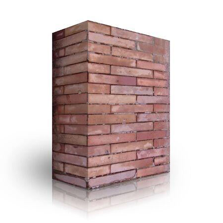 Wall bricks on a white background photo