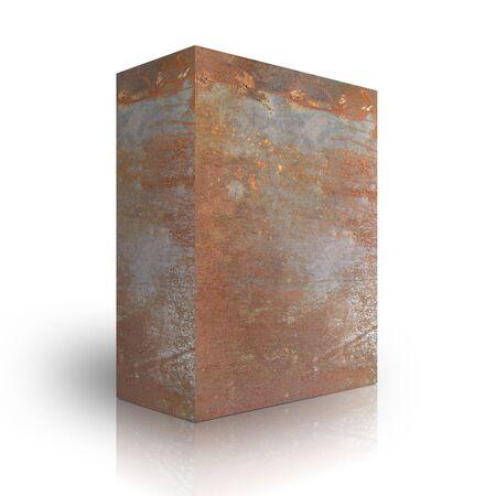 Metal box on a white background Stock Photo - 3628014