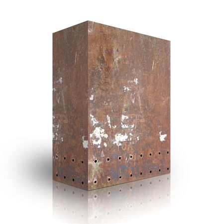 Metal box on a white background Stock Photo - 3628018