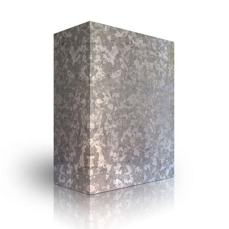 Metal box on a white background Stock Photo - 3627995