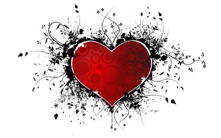 Red Heart  background Stock Photo - 3631799
