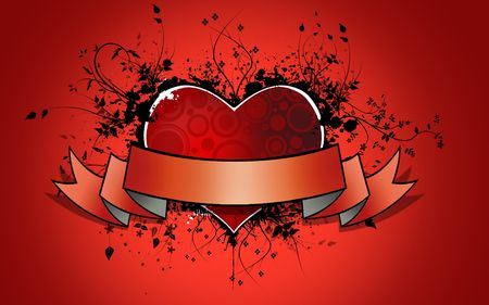 staffing: Red Heart  background