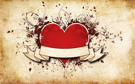 gros coeur: Red Heart fond