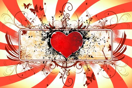 Red Heart  background photo