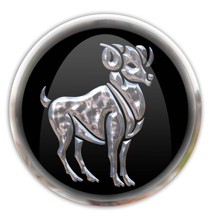 stellar: Button with the zodiacal sign Aries