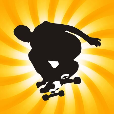 pirouette: Teenager with skateboard