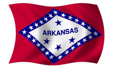 arkansas: Flag of Arkansas Stock Photo