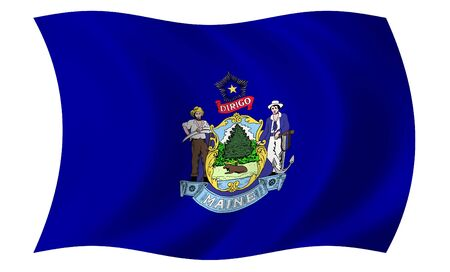 Flag of Maine photo