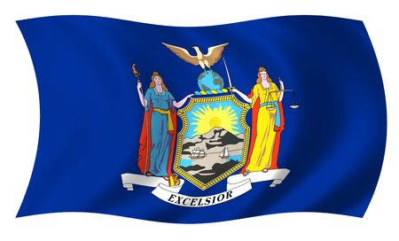 Bandera de Nueva York Foto de archivo - 3734369