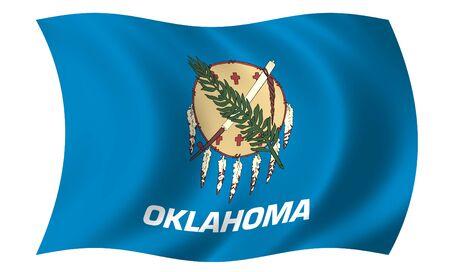 oklahoma: Flag of Oklahoma Stock Photo