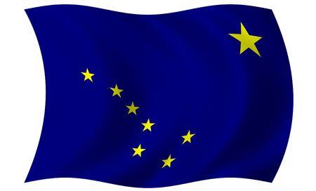 Bandera de Alaska Foto de archivo - 3734327
