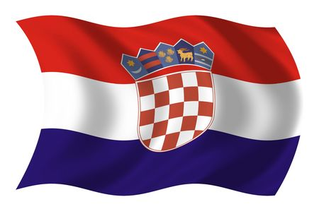 croatia: Flag of Croatia Stock Photo