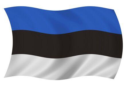 Estonias flag Imagens