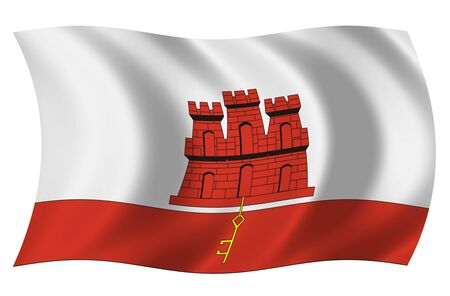 Flag of Gibraltar photo