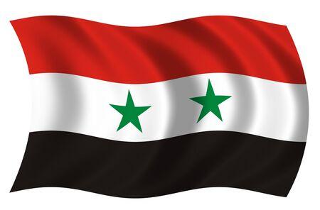 Flag of Syria Imagens