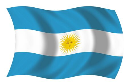 Flag of Argentina Imagens