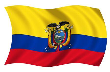 republic of ecuador: Flag of Ecuador Stock Photo
