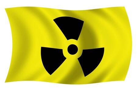 radiactividad: marca con el s�mbolo de radiactividad Foto de archivo
