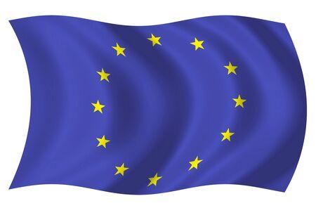 Bandera de la Comunidad Econ�mica Europea (CEE) Foto de archivo - 3986730