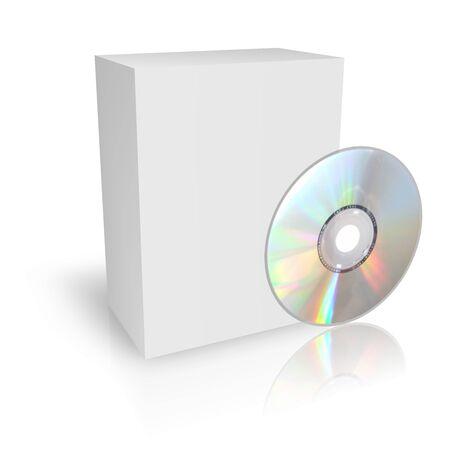 DVD o CD cuadro Foto de archivo