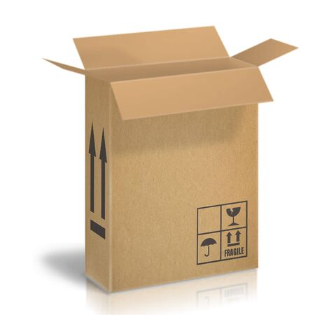 Cardboard boxes for the transport of goods Stock Photo - 4109233