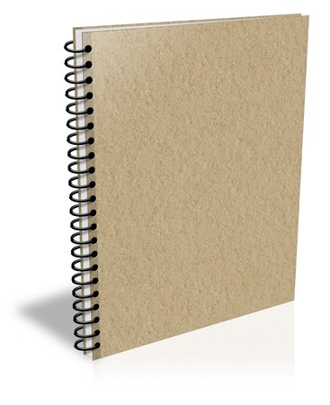 Notebook with recycled paper photo