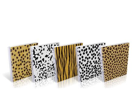 Notebook with design skin of wild animals photo