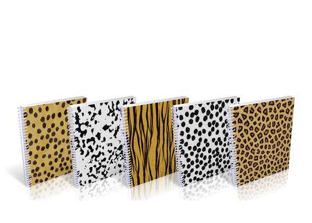 Notebook with design skin of wild animals photo