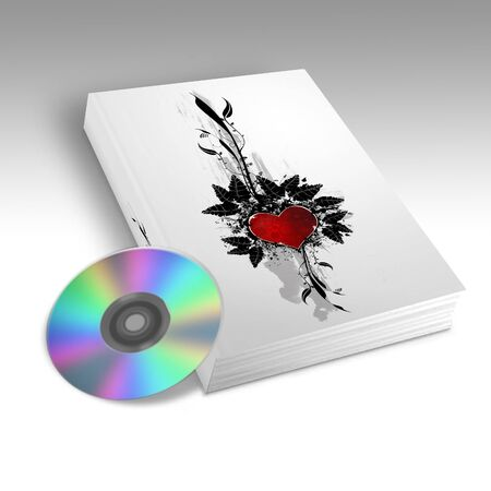 dvds: Book with a heart design on the front