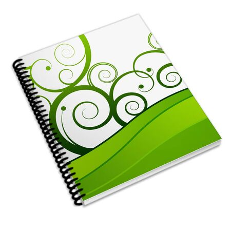 dvds:  Book, Notebook, generic white background