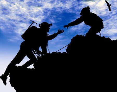 bergbeklimmen: Alpinisme Stockfoto