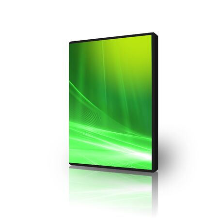 dvds: DVD case for software disks Stock Photo