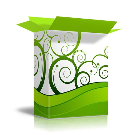 packaging industry: Box with generic design Stock Photo