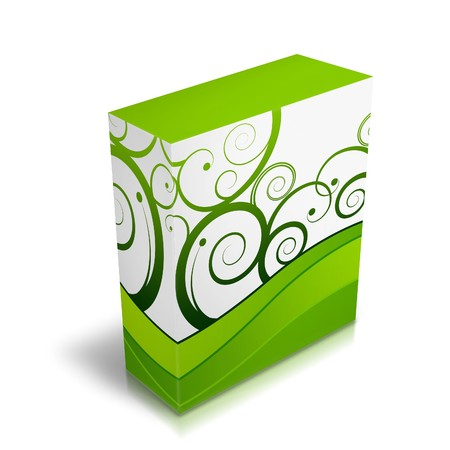 stock agency: Box with generic design Stock Photo
