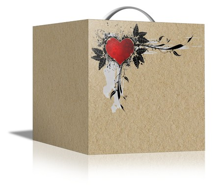 stock agency: Box with a gift for Valentines Day Stock Photo