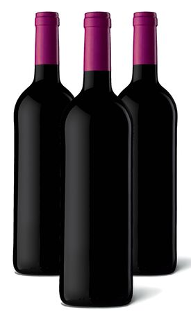 Bottles of red wine Stock Photo