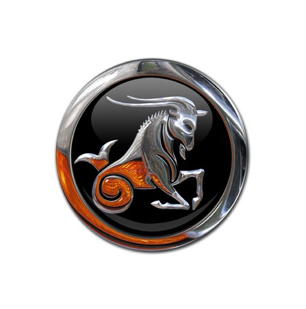zodiacal sign: Button with the zodiacal sign