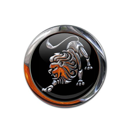 zodiacal: Button with the zodiacal sign
