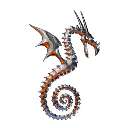 3d snake: Illustration of a mythical dragon