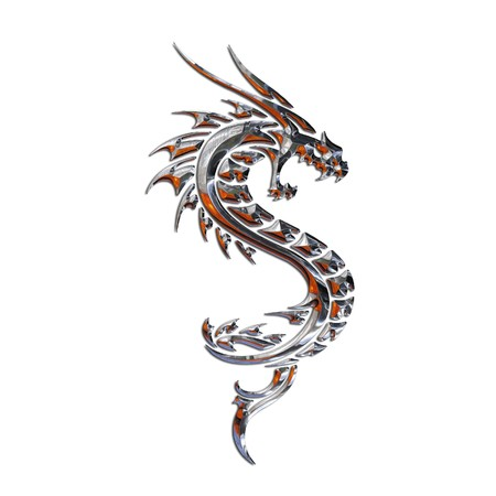tribal dragon: Illustration of a mythical dragon