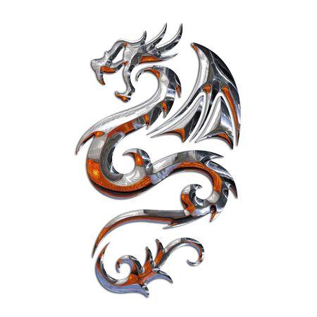 tatouage dragon: Illustration d'un mythique dragon