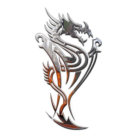 tribali: Illustrazione di un mitico drago