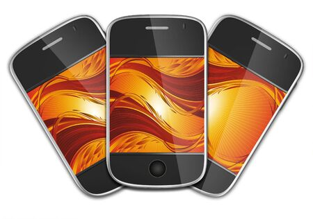 ultimate: Ultimate generation mobile phones Stock Photo