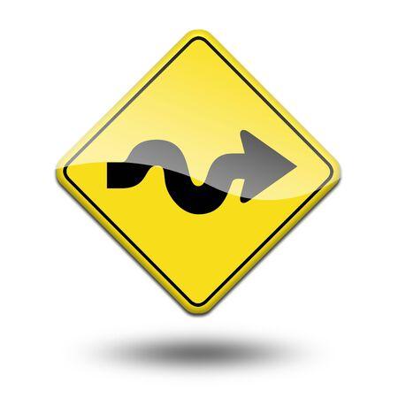 precautionary: traffic signal on a white background Stock Photo