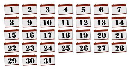 almanac: Calendar Stock Photo