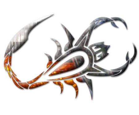 3d snake: Chrome Scorpion
